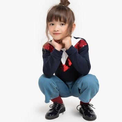 Sweater met ronde hals in V-hals effect, in molton 3-12 jaar Sweater met ronde hals in V-hals effect, in molton 3-12 jaar LA REDOUTE COLLECTIONS