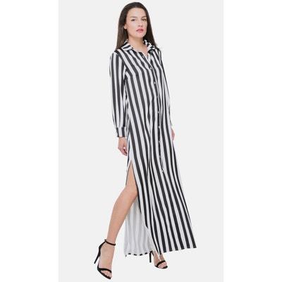 334d88a902141 Robe chemise rayée Robe chemise rayée CUPLE