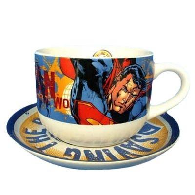 Tasse Jumbo et sous tasse Superman Tasse Jumbo et sous tasse Superman SUD  CARGO f92baf5be71