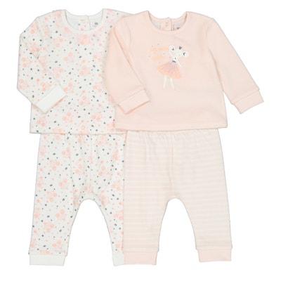 8e7bfbd42b27b Lot de 2 pyjamas velours 3 mois-4 ans LA REDOUTE COLLECTIONS