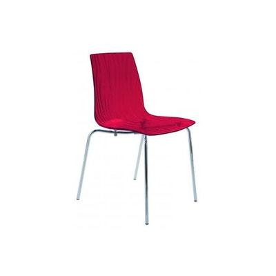 Chaise Design Transparente Rouge ARC DECLIKDECO