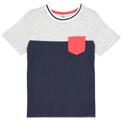 01167d70d93d1 T-shirt bicolore poche poitrine 3-12 ans T-shirt bicolore poche poitrine
