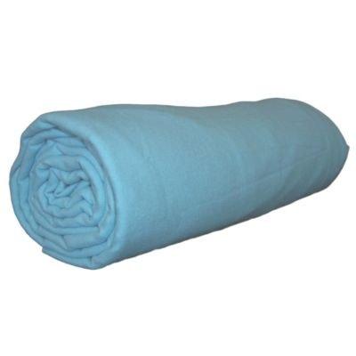 drap housse flanelle bleu la redoute. Black Bedroom Furniture Sets. Home Design Ideas