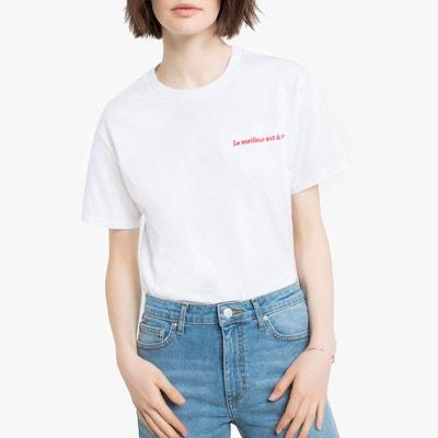 ce0de4b93296a T-shirt col rond à message, coupe boyfriend T-shirt col rond à. (0).  Nouveauté. LA REDOUTE COLLECTIONS