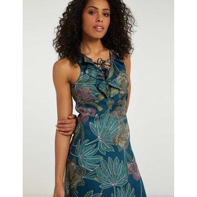b5fc6d8a062 Robe longue à motif végétal MORGAN