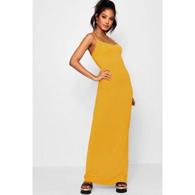 sélectionner pour plus récent quantité limitée énorme réduction Robe longue jaune | La Redoute