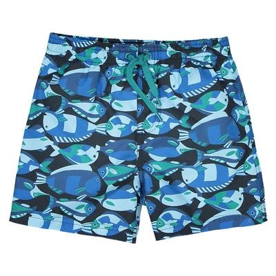31d0b07697f Short de bain imprimé poissons 3-12 ans Short de bain imprimé poissons 3-
