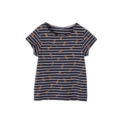 e56e659b633 T-shirt rayé fille motifs fruits pailletés T-shirt rayé fille motifs fruits  pailletés. VERTBAUDET