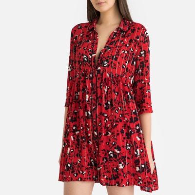 24d8f090a1a Robe ample en tissu imprimé brillant ERINE Robe ample en tissu imprimé  brillant ERINE BA SH