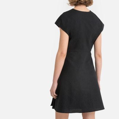 dffb7fe7088f Cotton Linen Tie-Waist Wrapover Dress Cotton Linen Tie-Waist Wrapover Dress