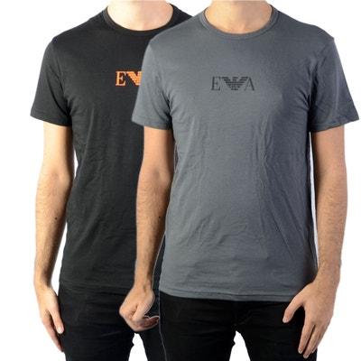 1a7b4087bf2 Lot de 2 tee-shirts col rond en coton stretch et Lot de 2 tee. EMPORIO  ARMANI. Lot de 2 tee-shirts ...