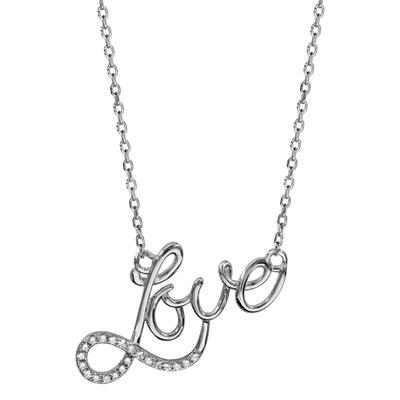 6f8e2370d2d7c Collier Réglable: 40 à 45 cm Love Amour Symbole Infini Argent 925 Collier  Réglable: