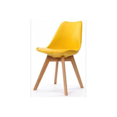chaise scandinave plexi jaune