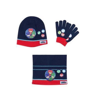 Ensemble 3 pièces   Un col tube, bonnet et gants LES PYJAMASQUES f958a6995cb
