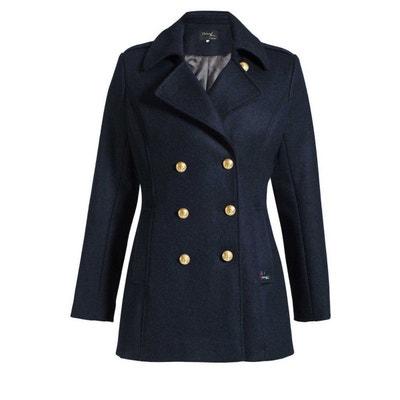 Manteau femme col officier Blousons et cabans marins