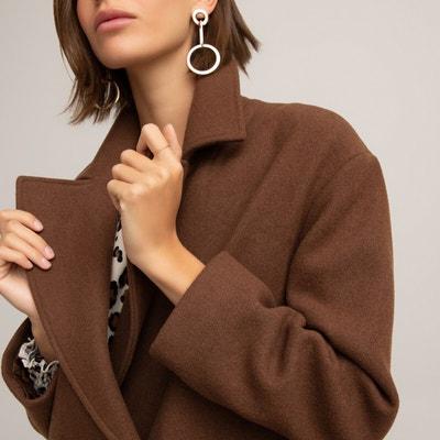 Manteau pardessus en lainage camel femme CAMEL Grain de Malice