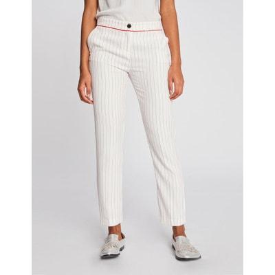 071368cc7d Pantalon 7/8 droit à fines rayures MORGAN