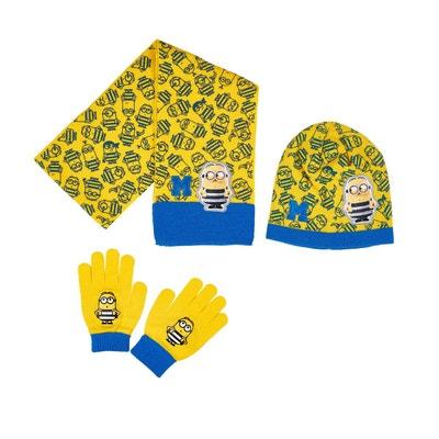 211e753dca05 Ensemble 3 pièces   écharpe, bonnet et gants LES MINIONS