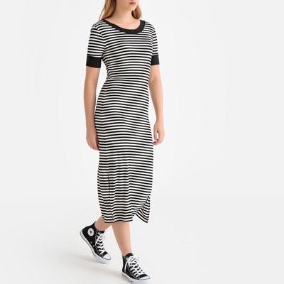 f2a2c6fef06d Striped Midi T-Shirt Dress LA REDOUTE COLLECTIONS