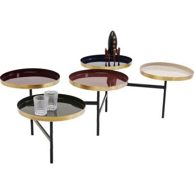 2d373613c57982 Table basse Curve multicolore laiton Kare Design KARE DESIGN