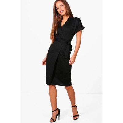 27cca6fa2b1 Robe noir femme avec petites manche courte