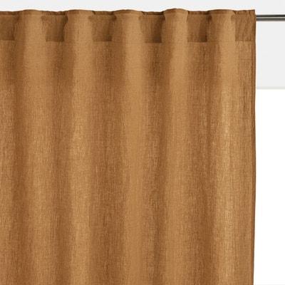 rideau lin marron la redoute. Black Bedroom Furniture Sets. Home Design Ideas