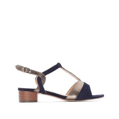 e6ec084865c0b Two-Tone Mid Heel Sandals ANNE WEYBURN