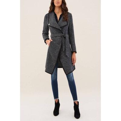 af1787f22dd8 Manteau en étoffe de laine basique avec ceinture NILO Manteau en étoffe de  laine basique avec