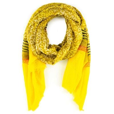 Echarpe étamine de laine Koks Lapu VERT ANIS ALLEE DU FOULARD 34967f09044