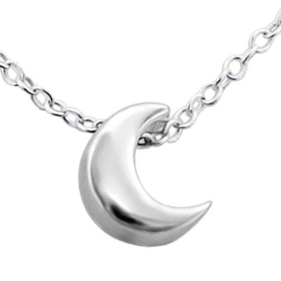 Collier Chaîne Longueur 45 cm Croissant Lune Argent 925 SO CHIC BIJOUX a1484879b5f