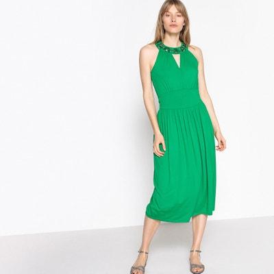 Vestido Verde Largo De Fiesta La Redoute