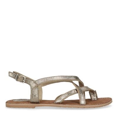 Sandales couleur argent femme | La Redoute