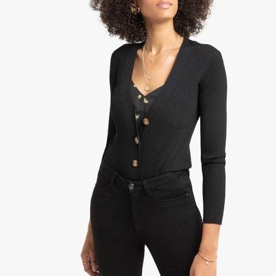 Vest met V-hals in fijn geribd tricot Vest met V-hals in fijn geribd tricot LA REDOUTE COLLECTIONS