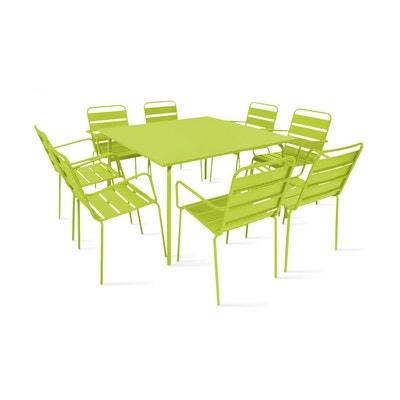 Salon de jardin pvc vert en solde | La Redoute
