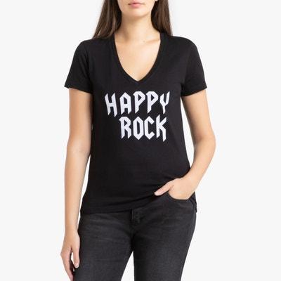 T-shirt met ronde hals en korte mouwen T-shirt met ronde hals en korte mouwen IKKS