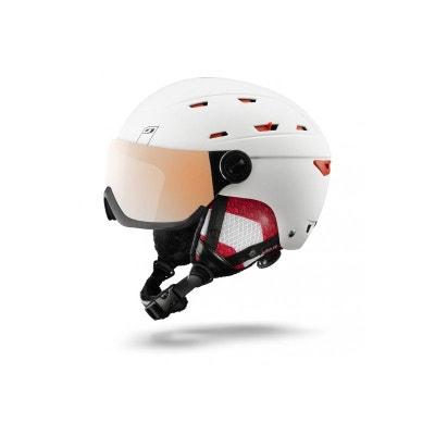 c6568ab2481f3 Casque de ski mixte JULBO Blanc REBBY VISOR Blanc   Corail Cat 3 Flash  Silver 56