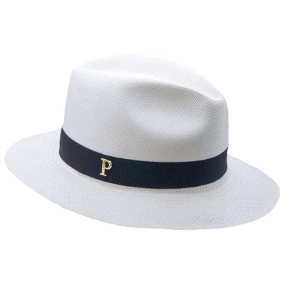 337d203577135 Chapeau panama en paille blanc ruban interchangeable Linea PANAMES AND CO