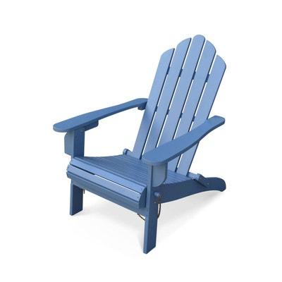8ea0a17a0936ba Fauteuil de jardin en bois Adirondack Salamanca bleu grisé eucalyptus FSC,  chaise de terrasse retro