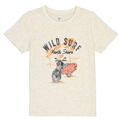 Bedrukt T-shirt met ronde hals 3-12 jaar Bedrukt T-shirt met ronde hals 3-12 jaar LA REDOUTE COLLECTIONS
