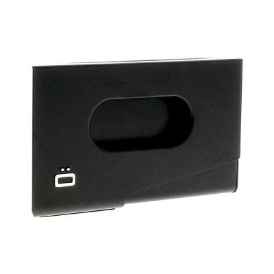 Porte Carte De Visite Alu Noir Ogon Design One Touch Made In