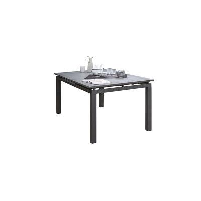 Table de jardin aluminium et verre avec rallonge | La Redoute
