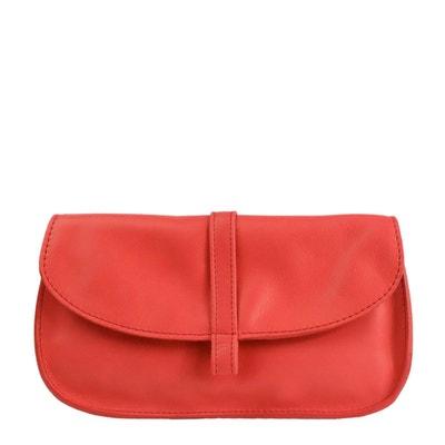 Portefeuille cuir rouge femme en solde   La Redoute 111a8d7f1b8