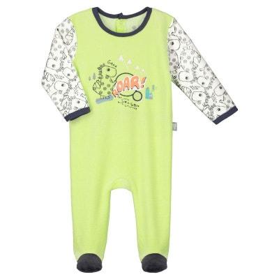 Pyjama bébé velours Snow Dino Pyjama bébé velours Snow Dino PETIT BEGUIN d2ea0a8d375
