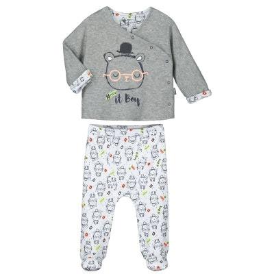 402954a4db274 Pyjama bébé 2 pièces avec pieds Mini Boy Pyjama bébé 2 pièces avec pieds  Mini Boy. PETIT BEGUIN