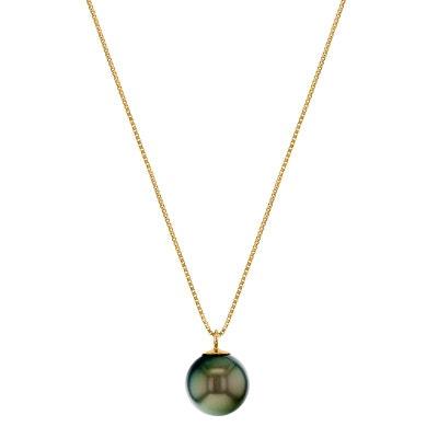 collier perle noire de tahiti pour homme