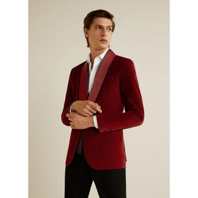 101027e244a5 Veste costume super slim-fit velours MANGO MAN