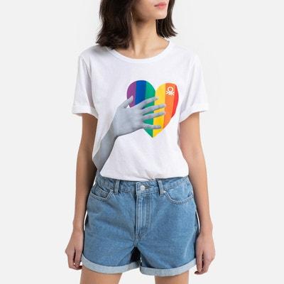 T-shirt met korte mouwen, print vooraan T-shirt met korte mouwen, print vooraan BENETTON