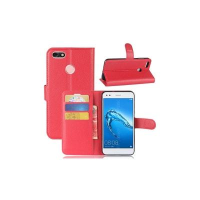d06f5230892d2 Housse Pour Huawei Y6 Pro 2017 Portefeuille Grainé AMAHOUSSE