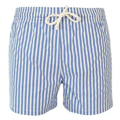 Maillot Short de bain homme John Rayure verticale bleu marine blanc ou ciel  LES LOULOUS DE 33ba4056317