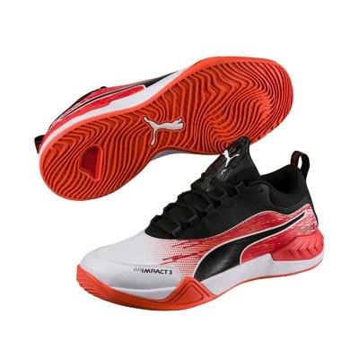 best sneakers 8d233 820e4 Chaussures handball Puma EvoImpact 3.3 IC Blanc Noir Rouge Chaussures  handball Puma EvoImpact 3.3